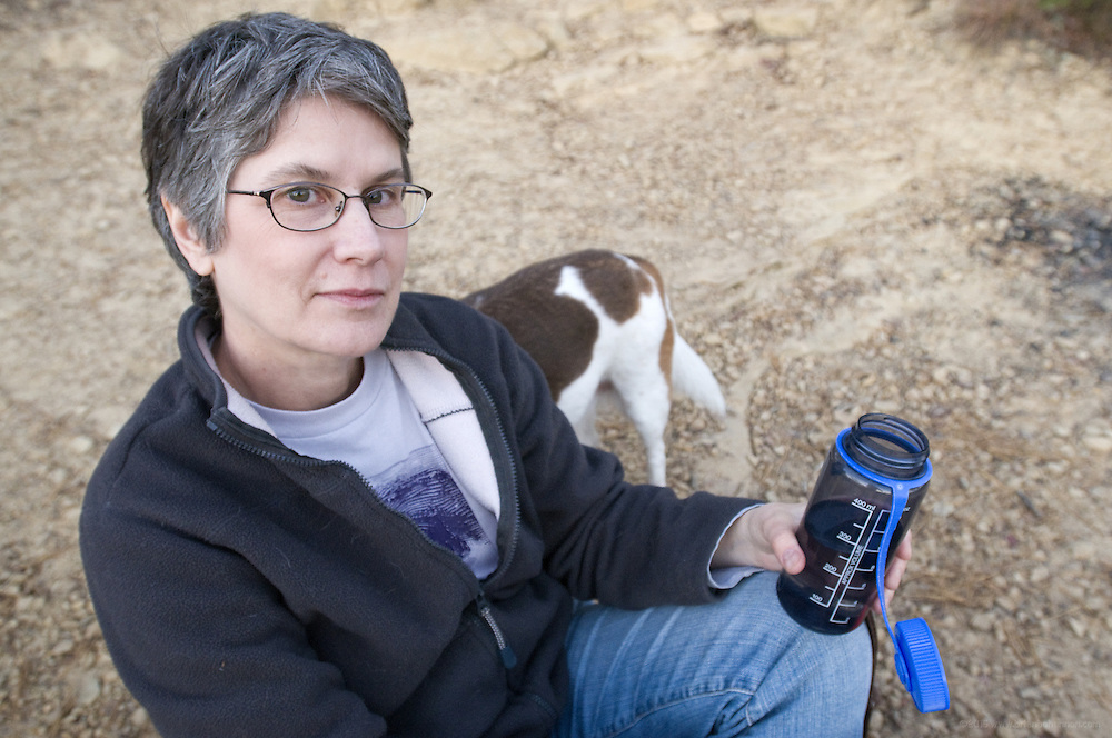 Mary Jean Kirtley with Sarah at Whispering Arch in the Red River Gorge Sunday, Oct. 31, 2010 near Slade, Ky.(Photo by Brian Bohannon)