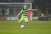 Forest Green Rovers Charlie Clough(5) passes the ball during the Vanarama National League match between Forest Green Rovers and Dover Athletic at the New Lawn, Forest Green, United Kingdom on 17 December 2016. Photo by Shane Healey.