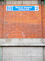 Temple Bar Sign in Dublin Ireland