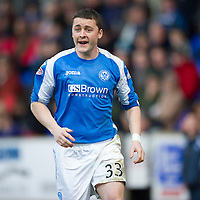 St Johnstone v Dundee.....02.01.13      SPL<br /> Tam Scobbie<br /> Picture by Graeme Hart.<br /> Copyright Perthshire Picture Agency<br /> Tel: 01738 623350  Mobile: 07990 594431