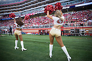 San Francisco 49ers Gold Rush perform during a preseason game against the Houston Texans at Levi's Stadium in Santa Clara, Calif., on August 14, 2016. (Stan Olszewski/Special to S.F. Examiner)