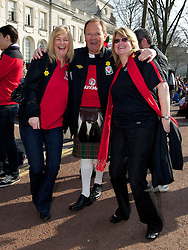 CARDIFF, WALES - Thursday, March 1, 2012: Members of the Football Association of Wales take part in the 10th St. David's Day Parade through the streets of Cardiff. FAW's John Deacon. (Pic by David Rawcliffe/Propaganda)