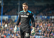 Newport County goalkeeper Joe Day during the Sky Bet League 2 match between Portsmouth and Newport County at Fratton Park, Portsmouth, England on 12 March 2016. Photo by Adam Rivers.