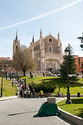 The church of San Jeronimo el Real Madrid, Spain. Near the Prado Museum