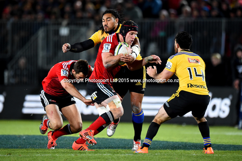 Crusaders player Matt Todd during their Investec Super Rugby game Crusaders v Hurricanes. Trafalgar Park, Nelson, New Zealand. Friday 29 May 2015. Copyright Photo: Chris Symes / www.photosport.co.nz