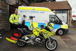 Inspector Ian Paul with the camera and Bike<br /> <br /> (c) David Wardle | Edinburgh Elite media