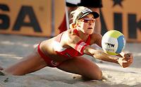 Volleyball, Sandvolleyball, World Tour Stavanger, Grand Slam, 29/06-05,<br />Ingrid Tørlen,<br />Foto: Sigbjørn Andreas Hofsmo, Digitalsport