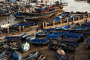 MOROCCO: Essaouira.The walled harbour and ramparts provide a medieval backdrop to the waterfront at this ancient fishing port.Orson Welles' Othello was filmed here and Jimi Hendrix used to hang out here.