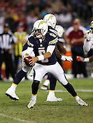 San Diego Chargers quarterback Mike Bercovici (6) hands off the ball on a running play during the 2016 NFL preseason football game against the San Francisco 49ers on Thursday, Sept. 1, 2016 in San Diego. The 49ers won the game 31-21. (©Paul Anthony Spinelli)