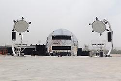 27.06.2012, Arganda del Rey, Mardid, ESP, Rock In Rio Madrid 2012, Vorbereitungen, im Bild Uebersicht auf das Festivalgelaende und Buehne // General view during preparation of Festival Ciudad del Rock 2012 'Rock In Rio Madrid 2012' at Arganda del Rey, Mardid, Spain on 2012/06/27. EXPA Pictures © 2012, PhotoCredit: EXPA/ Alterphotos/ Marta Gonzalez..***** ATTENTION - OUT OF ESP and SUI *****