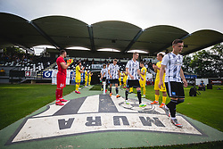 Players of Mura and Domzale before football match between NŠ Mura and NK Domžale in 30th Round of Prva liga Telekom Slovenije 2019/20, on June 28, 2020 in Fazanerija, Murska Sobota, Slovenia. Photo by Blaž Weindorfer / Sportida