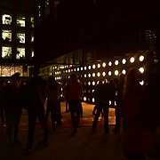 London, England, UK. 18 January 2018. Lumiere London 2018 at Granary square, King Cross, London, UK