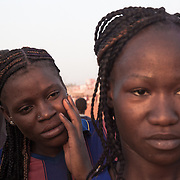 "The captain Madeleine and ""Rasta"",  Amazones team players on a first division of Mali national woman football league"