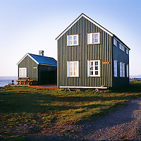 Húsin Myllustaðir og Setrið í Flatey.