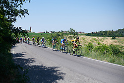 Roxane Knetemann (NED) leads the second group on the road at Giro Rosa 2018 - Stage 4, a 109 km road race starting and finishing in Piacenza, Italy on July 9, 2018. Photo by Sean Robinson/velofocus.com
