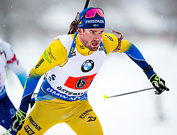 March 16, 2019 - –Stersund, Sweden - 190316 Fredrik Lindström of Sweden competes in the Men's 4x7,5 km Relay during the IBU World Championships Biathlon on March 16, 2019 in Östersund..Photo: Johan Axelsson / BILDBYRÃ…N / Cop 245 (Credit Image: © Johan Axelsson/Bildbyran via ZUMA Press)
