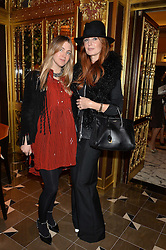 Left to right, IVANA HRNJEZ and ANGELA RADCLIFFE at the Cash & Rocket Tour Announcement Launch Lunch in association with McArthur Glen was held at The Grill, The Dorchester, Park Lane, London on 12th March 2015.