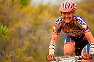 GREYTON, SOUTH AFRICA - Robyn Adendorff and second placed womens team during stage four of the Absa Cape Epic Mountain Bike Stage Race held in Greyton on the 25 March 2009 in the Western Cape, South Africa..Photo by Sven Martin /SPORTZPICS