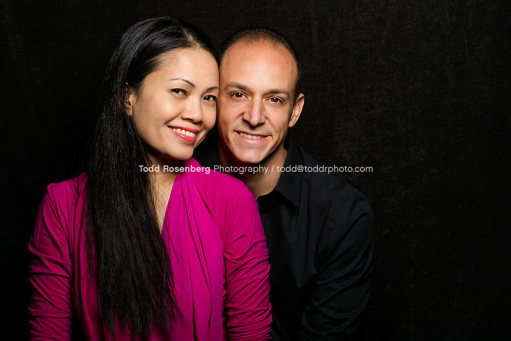 1/30/17 4:56:21 PM <br /> <br /> Jin H Ngan Portrait in studio with Fiance Robert Ohneiser and Jin's daughter Abby Koziol <br /> <br /> <br /> &copy; Todd Rosenberg Photography 2017