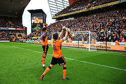 Free to use courtesy of Sky Bet - Ruben Neves of Wolverhampton Wanderers celebrate after lifting the Sky Bet Championship 2017/18 league trophy - Mandatory by-line: Matt McNulty/JMP - 28/04/2018 - FOOTBALL - Molineux - Wolverhampton, England - Wolverhampton Wanderers v Sheffield Wednesday - Sky Bet Championship