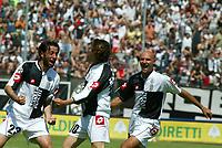 Siena 29-05-2005<br />Campionato di calcio serie A 2004-05 Siena Atalanta<br />Nella foto Esultanza di chiesa dopo il gol<br />Foto Snapshot / Graffiti