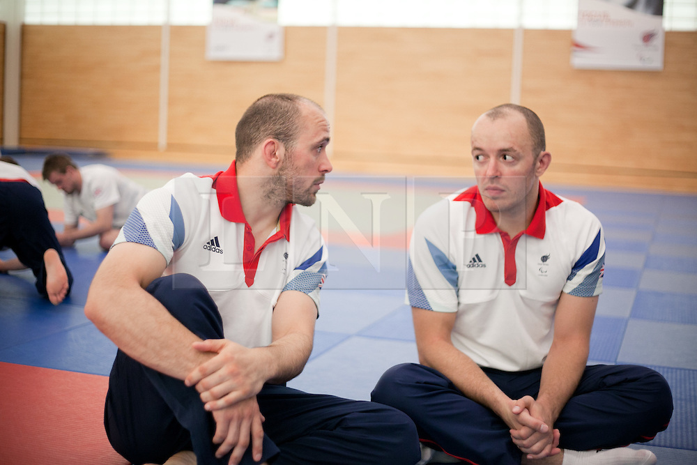 © London News Pictures. 23/08/2012. Dartford, Kent. Judo paralympian brothers Sam and Joe Ingram photocall. Britain's leading judokas from ParalympicsGB in training at their national base in Dartford, Kent before competing in London2012. Picture credit should read Manu Palomeque/LNP