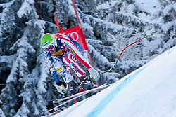 KITZBUHEL AUSTRIA. 22-01-2011. Bode Miller (USA) speeds down the course competing in the 71st Hahnenkamm downhill race part of  Audi FIS World Cup races in Kitzbuhel Austria.  Mandatory credit: Mitchell Gunn