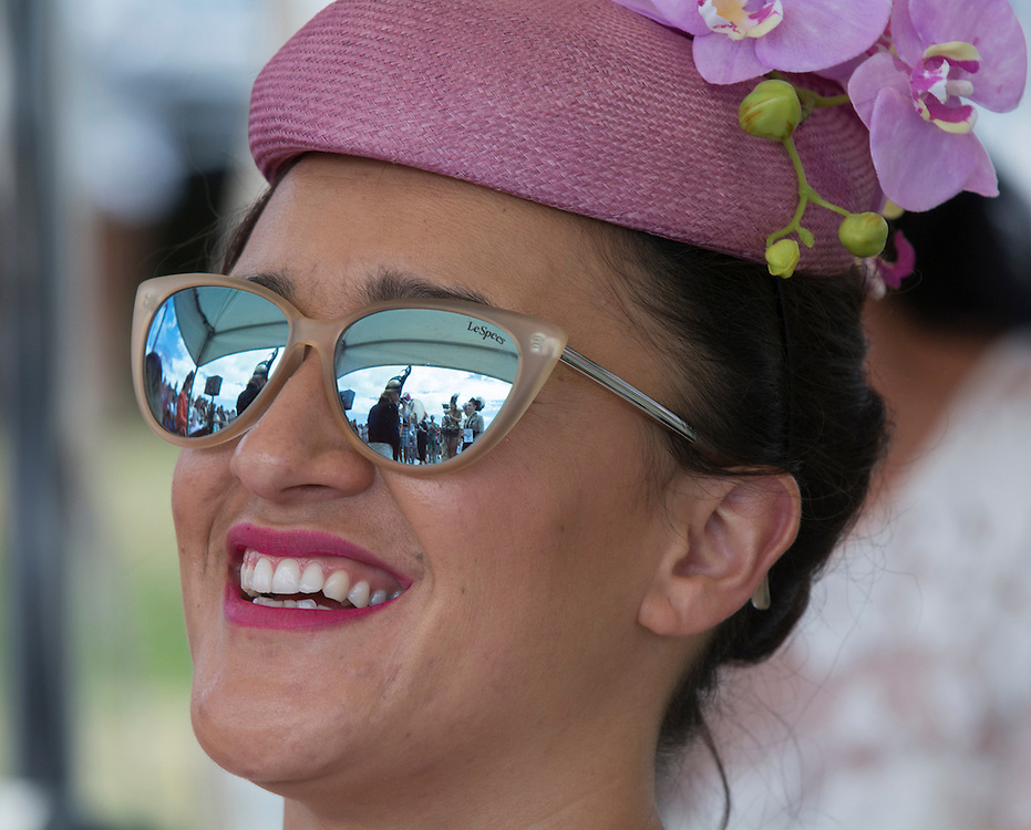Keisha Castle-Hughes, one of the judges for the Fashion in the Field contest at New Zealand Cup Day, Riccarton Racecourse, Christchurch, New Zealand, Saturday, 15 November, 2014.  <br /> Credit:SNPA / David Alexander