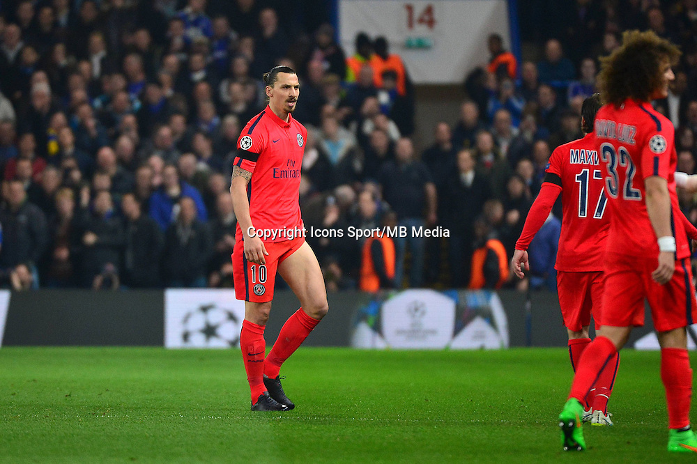 Expulsion  Zlatan IBRAHIMOVIC - 11.03.2015 - Chelsea / Paris Saint Germain - 1/8Finale retour Champions League<br /> Photo : Dave Winter / Icon Sport