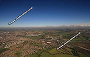 aerial photograph of Colton  Leeds Yorkshire England UK
