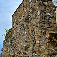 Old City Wall at Back Lane in Dublin, Ireland <br />