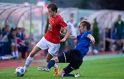 Tomas Rimas of Trans Narva (R) vs Luka Prasnikar (L) of Rudar at 1st Round of Europe League football match between NK Rudar Velenje (Slovenia) and Trans Narva (Estonia), on July 9 2009, in Velenje, Slovenia. Rudar won 3:1 and qualified to 2nd Round. (Photo by Vid Ponikvar / Sportida)