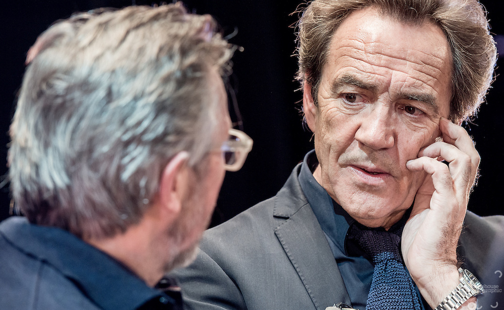 Production stills of Robert Lindsay filming BBC &quot;Sixty Six&quot; documentary at his old College (Clarendon) in Nottingham where he studied acting 50 years ago in 1966.<br />