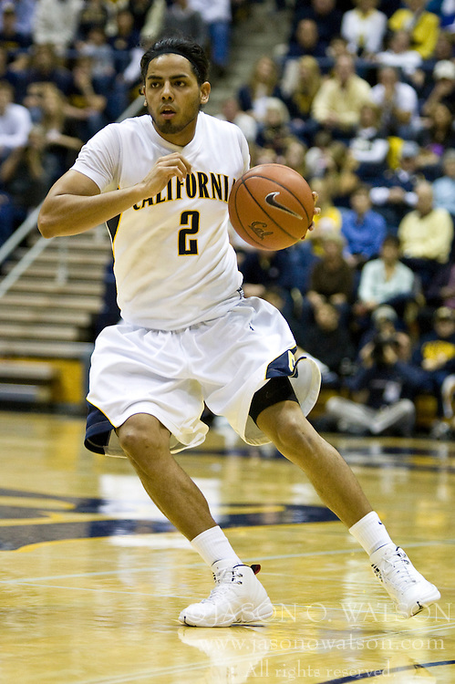 February 27, 2010; Berkeley, CA, USA; California Golden Bears guard Jorge Gutierrez (2) during the first half against the Arizona State Sun Devils at Haas Pavilion. California defeated Arizona State 62-46.