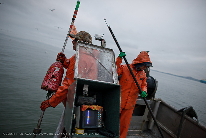 Dominic Papetti and wife, Karen Locaynia, Hering fishing in San Francisco Bay