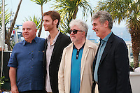 Agustín Almodóvar, Damián Szifrón, Pedro Almodóvar and Hugo Sigman, at the photo call for the film Wild Tales (Relatos Salvajes) at the 67th Cannes Film Festival, Saturday 17th May 2014, Cannes, France.
