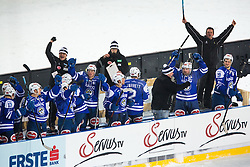 03.01.2015, Klagenfurter Wörthersee Stadion, Klagenfurt, AUT, EBEL, EC KAC vs EC VSV, 35. Runde, in picture Bench of VSV celebrate during the Erste Bank Icehockey League 35. Round between EC KAC and EC VSV at the Klagenfurter Wörthersee Stadion, Klagenfurt, Austria on 2015/01/03. Photo by Matic Klansek Velej / Sportida