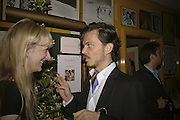 CAMILLA MORTON AND MATTHEW WILLIAMSON, Plum Sykes, book launch party, Annabel's, Berkeley Square, London, W1,10 May 2006.  Matthew Williamson, Catherine Vautrin, Laudomia Pucci host party to celebrate 'The Debutante Divorcee'. ONE TIME USE ONLY - DO NOT ARCHIVE  © Copyright Photograph by Dafydd Jones 66 Stockwell Park Rd. London SW9 0DA Tel 020 7733 0108 www.dafjones.com