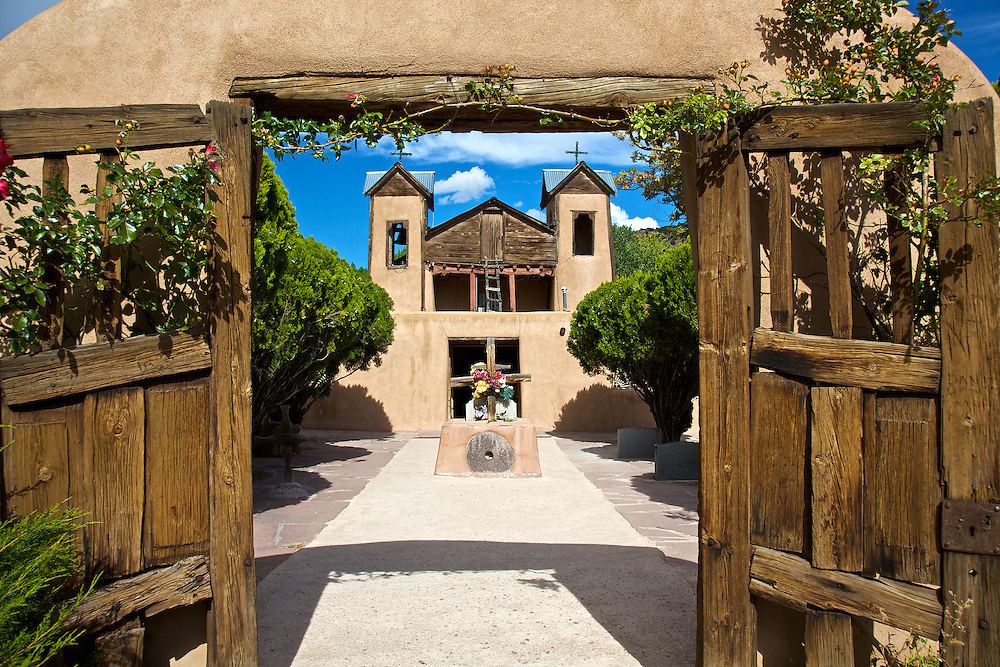"Located in the stunning Sangre de Cristo Mountains, El Santuario (the shrine) de Chimayo is often referred to as the ""Lourdes of America."""