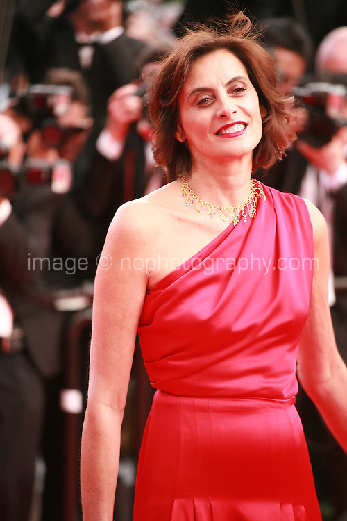 Ines de La Fressange at the the How to Train Your Dragon 2 gala screening red carpet at the 67th Cannes Film Festival France. Friday 16th May 2014 in Cannes Film Festival, France.