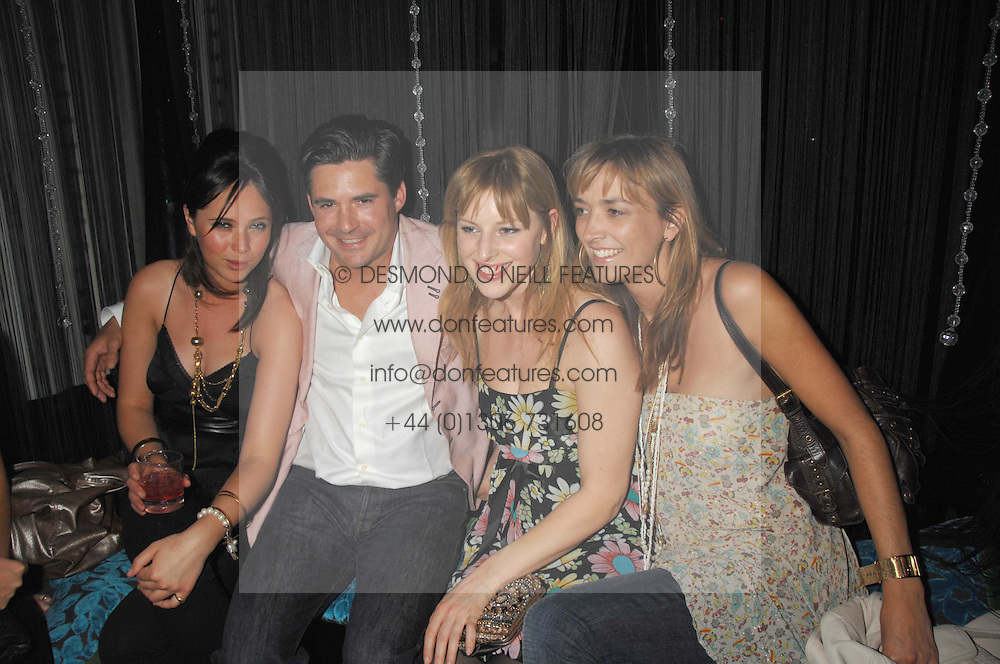 Left to right, RACHAEL LETHBRIDGE, EDWARD TAYLOR, GLORIA FRAMPTON  and GINA MOORE  at a party to launch the new upstairs area of Mamilanji, 107 Kings Road, London SW3 on 19th April 2007.<br />