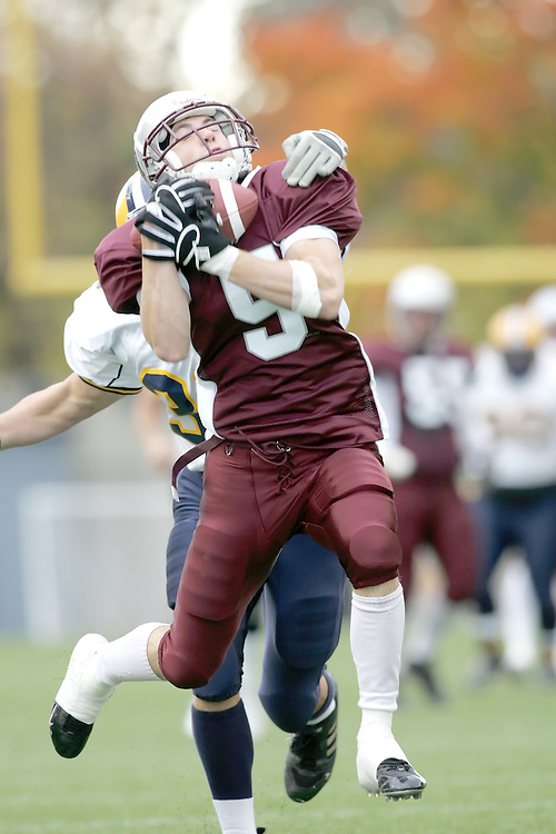 (20 October 2007 -- Ottawa) The University of Ottawa Gee Gees football team defeated the University of Windsor Lancers 43-2 to complete a perfect undefeated season. The player pictured is Marc-andre St-hilaire