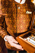 Cigars available for smoking in the observation car on the Eastern & Oriental Train