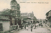 Old Post Card of Ceylon. View of Sea Street in Colombo.