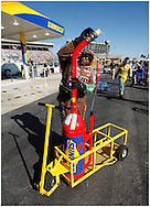 HAMPTON, GA:, Gas man Greg Martin gets fuel for the M&M Car at the Pep Boys Auto 500 at Atlanta Motor Speedway on Sunday.10/26/08.© 2008 Johnny Crawford