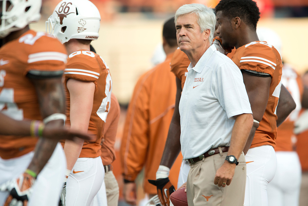 AUSTIN, TX - SEPTEMBER 14: Defensive coordinator Greg Robinson of the Texas Longhorns looks on before kickoff against the Mississippi Rebels on September 14, 2013 at Darrell K Royal-Texas Memorial Stadium in Austin, Texas.  (Photo by Cooper Neill/Getty Images) *** Local Caption *** Greg Robinson