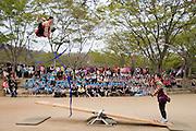 Korean Folk Village. See-saw jumping show.