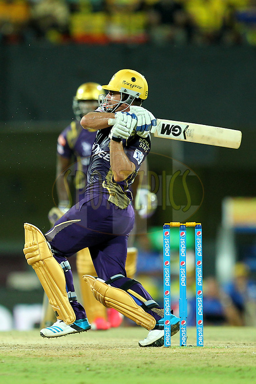Rayn Ten Doeschate of Kolkata Knight Riders during match 28 of the Pepsi IPL 2015 (Indian Premier League) between The Chennai Superkings and The Kolkata Knight Riders held at the M. A. Chidambaram Stadium, Chennai Stadium in Chennai, India on the 28th April 2015.Photo by:  Prashant Bhoot / SPORTZPICS / IPL