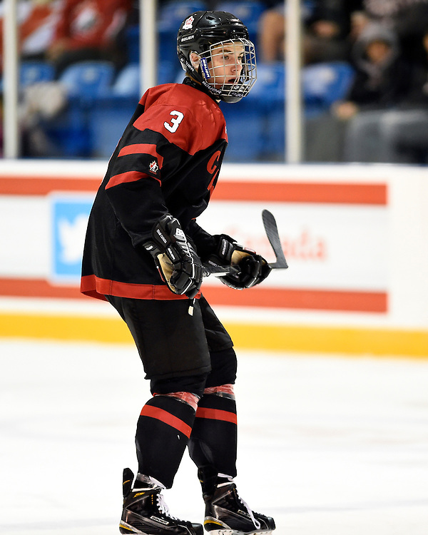 Jake Bean of the Calgary Hitmen represented Team Canada Black at the World Under-17 Hockey Challenge in Sarnia and Lambton, ON November 2-8, 2014. Photo by Aaron Bell/CHL Images