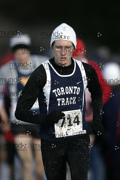 Guelph, Ontario ---29/11/08---  SPENCER MORRISON runs the senior mens race at the 2008 AGSI Canadian Cross Country Nationals in Guelph, Ontario November 29, 2008..GEOFF ROBINS Mundo Sport Images